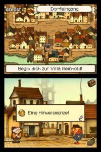 Professor Layton und das geheimnisvolle Dorf - Hinweise suchen und finden © Nintendo