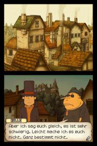 Professor Layton und das geheimnisvolle Dorf - Rätselhungrige Dorfbewohner © Nintendo