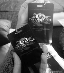 Unsere U2 The Joshua Tree Tour 2017 Karten für das Konzert in Berlin