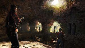 Die Abenteurer betreten die Höhlen