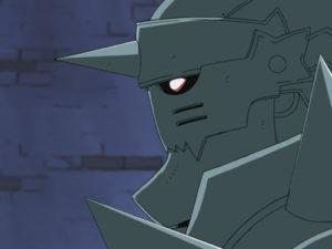 Fullmetal Alchemist: Al Elric hat eine leere Rüstung als Körperersatz © KSM Anime