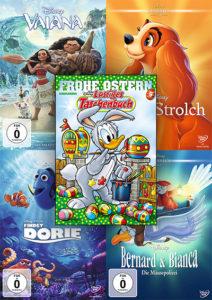 """Oster-Gewinnspiel: Lustiges Taschenbuch Ostern Nr. 9, Disneys """"Vaiana"""", """"Susi & Strolch"""", """"Findet Dorie"""" und """"Bernard & Bianca – Die Mäusepolizei ©2018 Disney"""