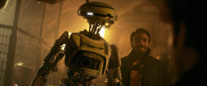 Solo: A Star Wars Story - L3-37 und Lando Calrissian © Lucasfilm, Disney