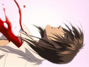 """Es wird auch Blut vergossen © 2000 Kaori Yuki / Hakusensha • """"Angel Sanctuary"""" Committee"""