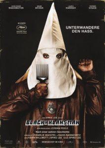 BlacKkKlansman Filmplakat © Universal Pictures