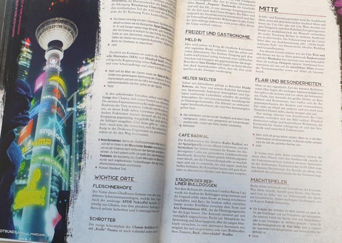 Doppelseite aus dem Quellenbuch Berlin 2080
