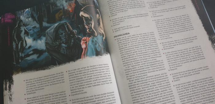 Doppelseite aus dem Quellenbuch Blackout - Mit Kommentaren